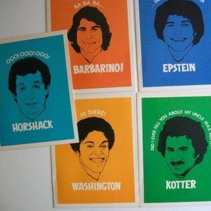 WELCOME BACK KOTTER Vintage Folder Set Of 5 Mead